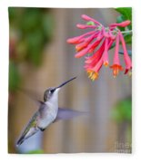 Hummingbird Happiness Fleece Blanket