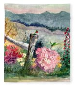 Hummingbird Haven Fleece Blanket