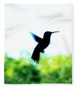 Hummingbird Hover Fleece Blanket