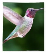Hummingbird In Flight Fleece Blanket