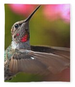 Hummingbird Intensity Fleece Blanket
