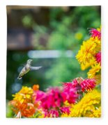 Hummingbird Moment Fleece Blanket