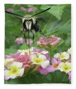 Hummingbird Moth Fleece Blanket