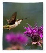 Hummingbird Moving Along Fleece Blanket
