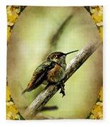 Hummingbird Noveau Fleece Blanket