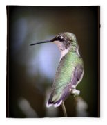 Hummingbird Photo - Side View Fleece Blanket