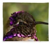 Hummingbird Portrait Fleece Blanket