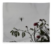 Hummingbird Silhouette I Fleece Blanket