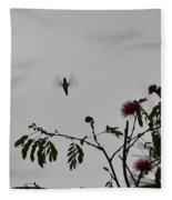 Hummingbird Silhouette I Fleece Blanket