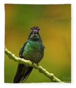 Hummingbird With A Lilac Crown Fleece Blanket