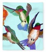 Hummingbirds Fleece Blanket