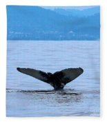 Humpback In Monterey Fleece Blanket