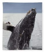 Humpback Whale Fleece Blanket