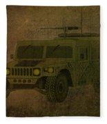Humvee Midnight Desert  Fleece Blanket