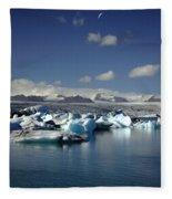 Hundreds Of Icebergs Fleece Blanket