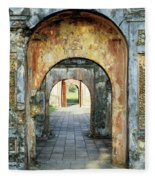 Hung Temple Arches Fleece Blanket