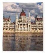 Hungarian Parliament Budapest Fleece Blanket