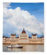 Hungarian Parliament Building Fleece Blanket