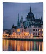 Hungarian Parliament Dawn Fleece Blanket
