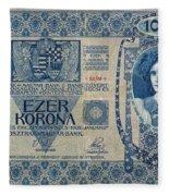 Hungary Banknote, 1902 Fleece Blanket