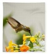 Hungry Flowerbird Fleece Blanket