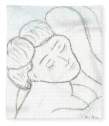 Hungry Girl Fleece Blanket