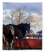 Hungry Horses Fleece Blanket