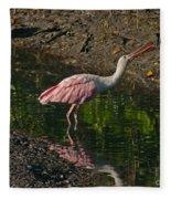 Hungry Pink Spoonbill Fleece Blanket