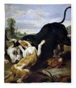 Hunted Bull Fleece Blanket