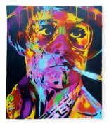 Hunter S Thompson Fleece Blanket