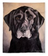 Hunting Buddy Black Lab Fleece Blanket
