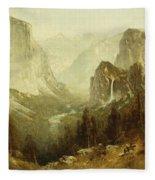 Hunting In Yosemite Fleece Blanket