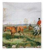 Hunting Scene Fleece Blanket