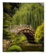 Huntington Japanese Garden No 3 Fleece Blanket