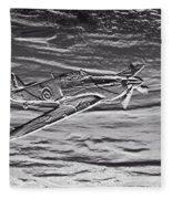 Hurricane Fighter Plane Relief Fleece Blanket
