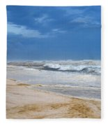 Hurricane Isaac Impacts Navarre Beach Fleece Blanket