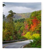 Hwy 281 In The Fall  Fleece Blanket