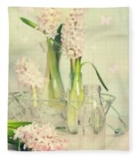Hyacinth Arrangement Fleece Blanket