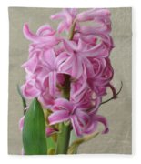 Hyacinth Pink Fleece Blanket