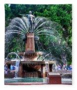 Hyde Park Fountain Fleece Blanket