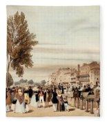 Hyde Park, Towards The Grosvenor Gate Fleece Blanket