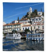 Greek Island Fleece Blanket