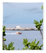 Hydra Island During Springtime Fleece Blanket