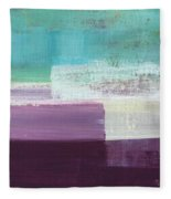 Hydrangea- Abstract Painting Fleece Blanket