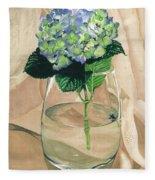 Hydrangea Blossom Fleece Blanket