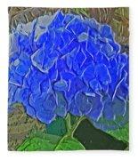 Hydrangea Blues Fleece Blanket