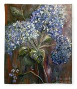 Hydrangea Bouquet At Dawn Fleece Blanket