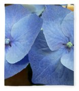 Hydrangea Flower Set Fleece Blanket