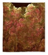 Hydrangea Fractal Blossoms Fleece Blanket