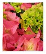 Hydrangea Joy Fleece Blanket